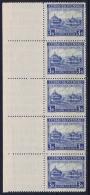 Czechoslovakia: 1939 Karpaten Ukraine Mi Nr 1 MNH/**/postfrisch/neuf Sans Charniere Strip With Sheetmargin - Czechoslovakia
