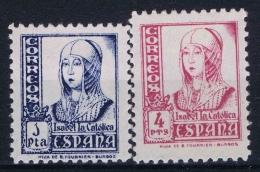 Spain: Ed. 828 - 829  Mi Nr 778 - 779  MH/* Falz/ Charniere 1937 - 1931-50 Nuevos & Fijasellos