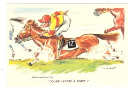 "Humour Paul ORDNER : Expressions Turfistes "" Courir Ventre à Terre "" ; Jockey Et Cheval ; TB - Ordner, P."