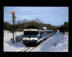 19 - EYGURANDE-MERLINES - Train - Locomotive - Sous La Neige - Eygurande