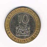 °°° KENYA  10 SHILLINGS  2005 - Kenya