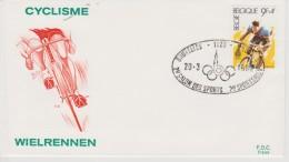 FDC  BELGIQUE 1982 CYCLISME 2e SALON DES SPORTS BRUXELLES - Ciclismo