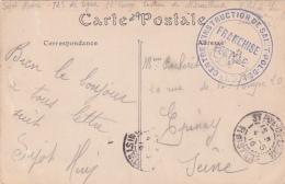 """Franchise """"CENTRE D'INSTRUCTION DE SAINT-POL DE LEON """" FINISTERE Sur CP Du Viaduc De La Peuzé 4/5/16 - Guerra Del 1914-18"""