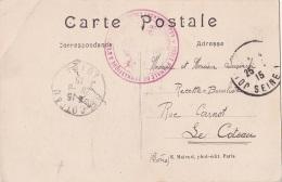"""Franchise """" ECOLE SUPERIEURE DE GYMNASTIQUE ET D'ESCRIME """" Sur CP Du 26/6/1915 - Guerre 14 WW1 - Gymnastique"""