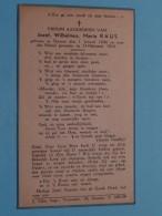 DP Jozef, Wilhelmus, Maria RAUS () Deurne 1 Jan 1944 - 14 Februari 1944 ( Zie Foto's ) ! - Obituary Notices