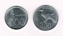 °°° INDONESIE  100 En 200  RUPIAH  1999 -2003 - Indonésie