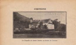 1929 - Iconographie Documentaire - Cervione (Corse) - La Chapelle De Sainte-Christine - FRANCO DE PORT - Sin Clasificación