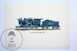 1963 Railroad Lithograph Print By Rich Schlemmer - New Jersey Central Camelback 1910 - Wereld