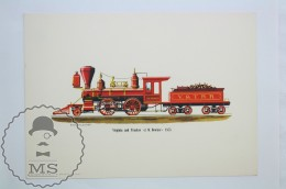 1963 Railroad Lithograph Print By Rich Schlemmer - Virginia And Truckee J. W. Bowker 1875 - World