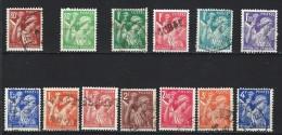 """FR YT 431 à 435 & 649 à 656 """" Iris Série Complète """" 1939-1944 Oblitéré - 1939-44 Iris"""