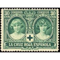 ES332STV-LFT***332S.ANIVERSARIO.CRUZ ROJA ESPAÑOLA.INFANTAS CRISTINA Y BEATRI.1926 (Ed 332**) Sin Charnela MAGNIFICO - 1889-1931 Reino: Alfonso XIII
