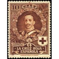 ES337STV-LFT***337STOCR.ANIVERSARIO.CRUZ ROJA ESPAÑOLA.ReY Alfonso Xlll De ESPAÑA.1926 (Ed 337**) Sin Charnela MAGNIFICO - Rotes Kreuz