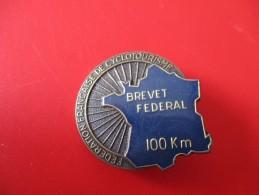 Broche  Cyclisme ( Brevet Federal 100 Km )2 - Cycling