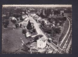 CPSM En Avion Au-dessus De QUERS (70) - Vue Generale Aerienne ( Ligne Chemin De Fer Passage à Niveau LAPIE ) - Autres Communes
