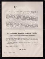 VIcomtesse Stanislas VIlain XIIII Née De Kerchove De Denterghem +16/1/1881 42 Ans Basel Temse D'Espiennes - Avvisi Di Necrologio