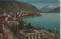 Montreux - Pavillion Des Sports Et La Dent Du Midi - Photoglob No. 5959 - VD Vaud
