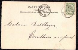 ESNEUX - SOUVENIR DE TILFF - PLACE DE L´EGLISE - ANIMEE  - IMPECCABLE 1905 !!!! VOIR DOS - Simple Cercle Tilff Au Dos - Esneux