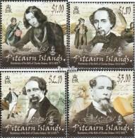 Pitcairn 869-872 (kompl.Ausg.) Postfrisch 2012 Charles Dickens - Pitcairninsel