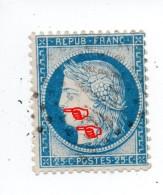 YT 60A - Cérès - Variété Parasite - GC 6174 Provenchères 88 - 1871-1875 Ceres