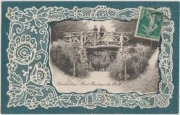 CPA 17 CHATELAILLON Fantaisie Pont Rusique Du Parc Cadre Dentelle 1912 - Châtelaillon-Plage