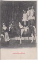 CIRQUE : JEUNES EQUILIBRISTES SUR UN CHEVAL - BEBES - 2 SCANS - - Circo