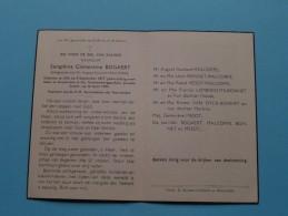 DP Seraphina Clementina BOGAERT ( Malcorps ) LILLO 3 Sept 1877 - Antwerpen 16 April 1954 ( Zie Foto's ) ! - Avvisi Di Necrologio