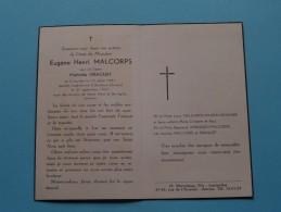 DP Eugène Henri MALCORPS ( Mathilde DRAGUET ) Louvain 13 Jul 1881 - Berchem 21 Sep 1957 ( Zie Foto's ) ! - Avvisi Di Necrologio