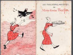 Publicité-menu LES MEILLEURS RECETTES DE MRIE BECFIN (PPP3916) - Menus