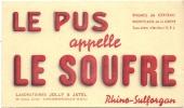 Buvard  Pharmacie - Laboratoires  Jolly Et Jatel St Germain En Laye  - Le Pus Appel Le Soufre Rhino Sulforgan TTB - Chemist's