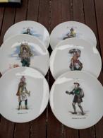 FRANCE SERVICE DESSERT ORANGINA 6 Assiettes Et Un Plat Porcelaine De Paris NEUF - Plates