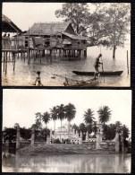 2 X PHOTOCARD MALAISIE MALAY *** Malay House And Mosque *** - Malaysia