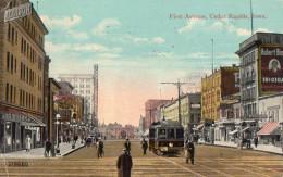 FIRST AVENUE - CEDAR RAPIDS  -  Juin 1915  -  TRAMWAY - - Cedar Rapids