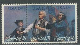 Etats-Unis N° 1077 / 79 XX Bicentenaire De L´Indépendace Des Etats-Unis,  Les 3 Valeurs En Triptyque Sans Charnière TB - Ongebruikt