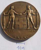 MEDAL SHOOTING, AARAU 1824-1924   PLIM - Tir à L'Arc