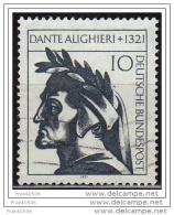Germany 1971, Dante Alighieri, Used - [7] Federal Republic