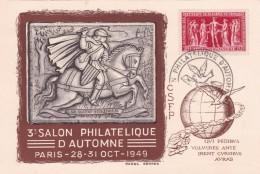 Timbre Sur Lettre 1949 - France