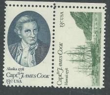 Etats-Unis N° 1186 / 87  XX 200ème Anniversaire De L'arrivée Du Capitaine Cook, La Paire Sans Charnière TB - Unused Stamps
