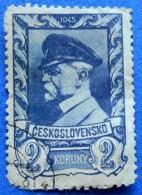 CZECHOSLOVAKIA TOMAS GARRIGUE MASARYK 2 K 1945 Mic.438 - USED - Gebraucht