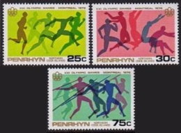 Penrhyn, 1976, Olympic Games Montreal, MNH, Michel 83-85 - Penrhyn