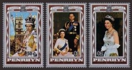 Penrhyn, 1977, Silver Jubilee Queen Elizabeth II, QEII, MNH, Michel 89-91 - Penrhyn