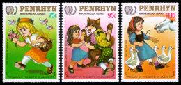 Penrhyn, 1985, International Youth Year, United Nations, MNH, Michel 427-429 - Penrhyn