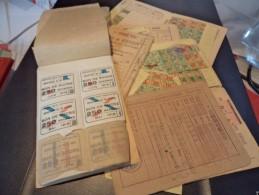 Ensemble 5 Cartes & Un Carnet De Coupons De Rationnement Période 1940 - Historical Documents