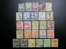 Lot 26 Timbres Colis Postaux Oblitérés  N° 1-2-3-3A-4-4A-6-8-10-11-12-14-15-18-22-23-23A-24-25 - Colis Postaux