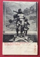 TIRO CON L'ARCO MONUMENTO A GIGLIELMO TELL CARTOLINA DELL'800 VIAGGIATA - Tir à L'Arc
