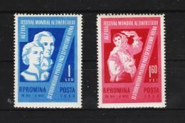 1959 - 7 Festival De La Jeunese Et Des Etudiants Y&T No 1633/34 Et Mi No 1790/91 MNH - Ungebraucht