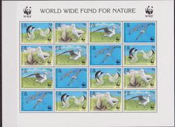 Tristan Da Cunha WWF Birds Oiseaux  Wandering Albatross Sheetlet With Error Double WWF Logo - W.W.F.