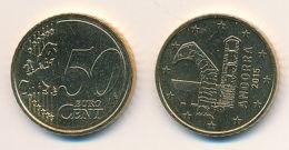 Andorra 2015 - ORIGINAL Amtliche 50 Cent Kursmünze - Stempelglanz Aus KMS - Vatican