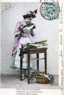 Portrait De Femme 1904 (LOT AC25) - 1er Avril - Poisson D'avril