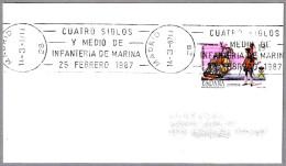 450 Años INFANTERIA DE MARINA - 450 Years Spanish Navy Marines. Madrid 1987 - Militaria