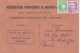 FEDERATION FRANCAISE DE BASKET - BALL  - Connvocation ARBITRE - Du 6 Mars 1949  De COGNAC - Baseball